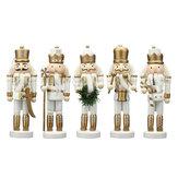 5 Stücke Holz Nussknacker Soldat Handwerk Puppe Puppe Spielzeug Ornament Weihnachtsgeschenk Hause Raumdekorationen