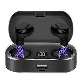 X36 digitális kijelzős bluetooth 5.0 fejhallgató érintőképernyős nagy kapacitású TWS sportos vezeték nélküli sztereó fülhallgató 2600mAh tápegységgel