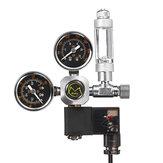 Sistema de acuario de doble calibrador Reguladores de presión de CO2 Contador de burbujas Válvula solenoide