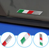 Aluminum Car Decal Stickers Italy National Flag Fender/Trunk Emblem Badge Fits Alfa Ro meo FIAT