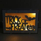 Loskii JM01501 Halloween trick or treat-patroon LED-licht wandlamp voor Halloween-decoraties Feest