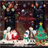 Miico ABQ9706 Adesivo de Natal Dos Desenhos Animados Adesivos de Parede PVC Removível Para Decoração de Quarto Festa de Natal