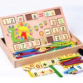 Número Relógio de madeira Brinquedos de Matemática Crianças Aprendizagem Precoce de Matemática Brinquedos Educativos Presente Lousa Placa Aritmética de Giz
