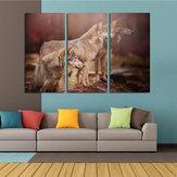 Original Miico pintado a mano tres pinturas decorativas combinadas arte de pared de tres perros para decoración del hogar