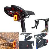 ENFITNIX 30LM COB LED Capteur intelligent Lumière de frein 30H Temps de travail Vélo Feu arrière USB Vélo de route VTT Avertissement Feu arrière