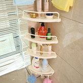 5 Raf Duş Köşe Gerginlik Kutup Caddy Düzenleyici Banyo Banyo Depolama Rafı Aletler Kit