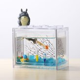Kleurrijke heldere Mini aquarium Aquarium LED licht Office Desktop Ornament Decor