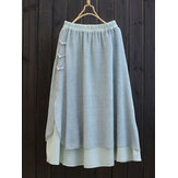 Layered Frog Button Skirt