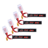4Pcs URUAV 15.2V 300mAh 70C/140C 4S Lipo Battery XT30 Plug for RC FPV Racing Drone