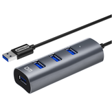DM CHB009 4 Ports USB3.0 Hub 300Mbps Extender Extension Connector Adapter USB Hub for PC Laptop