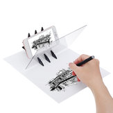 LED Stencil Tracing Drawing Board Light Sketch Mirror Reflection Dimming Drawing Pad