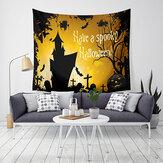 Loskii LWG5 Halloween Tapeçaria Abóbora Impressão Pendurado Tapeçaria Wall Art Home Decor Decorações de Halloween Para Casa