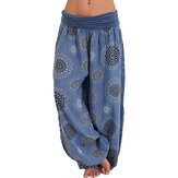 Loose Wide Leg Print Casual Yoga Pants
