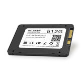 BlitzWolf® BW-SSD3 512 GB 2,5 Pollici SATA3 6 Gbps disco rigido TLC Chip Hard disk interno per PC e laptop SATA con R / W a 530/450 MB / s