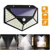 100 LED Solar Powered PIR Motion Sensor Street Wall Light Outdoor Security Lamp
