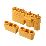 1Pair Amass AS120 Male/Female Plug Connector Resistance Adapter Plug for RC Model FPV Racing Drone Lipo Battery