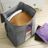 Armazenamento de carvão de bambu dobrável Caixa Organizador de armários de manta de roupas Bolsa Armazenamento de colchas Bolsa
