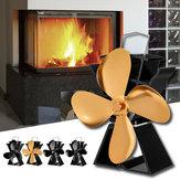 8.8 Inch Quiet 3/4 Blade EQ3-BK Stove Fan Fireplace Fire Heat Powered Saving Ecofan