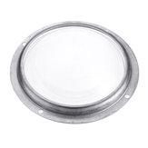 100 MM À Prova D 'Água de 60 Graus Lente de Vidro Óptico + Anel De Alumínio + Círculo De Plástico Para 20 W-100 W Chip de Alta Potência LED