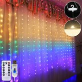 1.5M * 2M waterdichte USB LED Rainbow Curtain String Light met afstandsbediening voor Indoor Outdoor Wedding Party