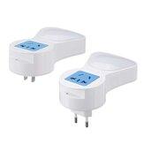 EU / USA AC100-240V 5W Light Sense LED éjszakai fény foglalat Kreatív USB töltőaljzat