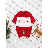Kids Cartoon Christmas One-Pieces Knit Jumpsuit