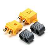 Amass Fixed XT60-L Plug Connector With Sheath Housing Male & Female 5 Pair for RC Airplane