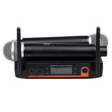 XYZ.SOUND A-555 Sistema Microfono portatile wireless a bobina dinamica per Kraoke Speech Party