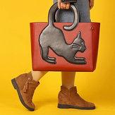 حقيبة كروس نسائية متعددة الوظائف كبيرة سعة بتصميم قطة