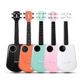 Populele 2 23 Pollici Controllo APP Ukulele USB Smart in fibra di carbonio Bluetooth 4.0 con perline LED lampada