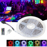 White Reel IP65 DC12V 24W 5M 2835 RGB 300 LED Strip Light + 44Keys IR Remote Control + Controller