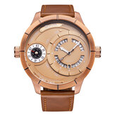 OULM HP6032 Big Dial Creative Men Wrist Watch Leather Watch Band Quartz Watches