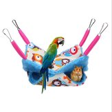 Mascota Hámster Pájaros Hamaca Ardilla de doble capa Cama colgante Casa Linda Cama colgante Mezzanine