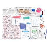 240Pcs Kit de primeros auxilios de supervivencia de emergencia SOS Carry Bolsa Kit de supervivencia de viaje en automóvil para el hogar herramientas