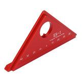 Régua triângulo Liga de alumínio Velocidade Metric Square Woodworking 45 ° Ferramenta de medição