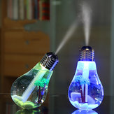 Loskii LED Bulb Shape Humidifier Portable for Travel Home 7 Color LED Night Light Humidifier Air Charging USB