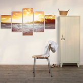 5Pcs Frameless Modern Oil Paintings Landscape Art Canvas Picture Home Wall Decor
