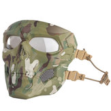 WoSporT Skull Airsoft Paintball Masque Masque Complet Tactique Halloween Party