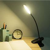 Bakeey USB Rechargeable LED Lampes de Bureau Clip Flexible Protection des Yeux Lecture Lampe Tactile Chargeur USB
