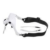 Headband Magnifier Glasses Hands Free Head Mount Magnifying Glasses USB LED Light W/ 1.0/1.5/2.0/2.5/3.5X Lense