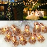 10 LED Lâmpadas Luzes Da Corda Fada Lâmpada Do Pátio Do Partido Jardim Quintal Casamento Casa Decorativa Luz Da Noite
