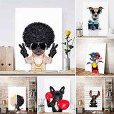 لطيف الكلب الفن الجدار ملصق طباعة ملصق الحديثة اللوحة ديكور غرفة المعيشة ديكور