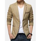 Hommes Messieurs Affaires Casual Mode Slim Fit Pure Color Petit Costume Manteau Blazers