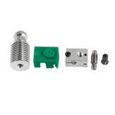Upgraded Extruder Hotend HeatSink Kit PT100 V6 Heating Block For 1.75mm Prusa i3 3D Printer