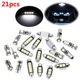 Kit lampadina luci interne LED 21pcs bianco per BMW Serie 5 M5 E60 E61 (04-10)