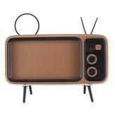 Haut-parleur bluetooth TV Forme Support de téléphone Haut-parleur sans fil Rétro TV Mini Portable Bluetooth Haut-parleur Support de téléphone portable Charge USB