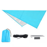 IPRee® 160x200CM/300x300CM 210T Portable Lightweight Outdoor Awning Camping Tent Tarp Shelter Hammock Cover Waterproof Rain Tarp Shelter Sunshade with Bag