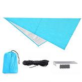 IPRee® 160x200CM / 300x300CM 210T Tragbare leichte Markise für den Außenbereich Campingzelt Tarp Shelter Hammock Cover Wasserdichte Regenplane Shelter Sonnenschutz mit Tasche