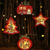 Estrela de Natal pingentes de madeira enfeites decoração de árvores enfeites de natal pingentes de madeira oca enfeites criativos para carros