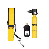 Diving Set Equipment 0.5L Mini Scuba Oxygen Cylinder Underwater Diving Accessory Tool Air Oxygen Tank W/ Adapter & Storage Bag